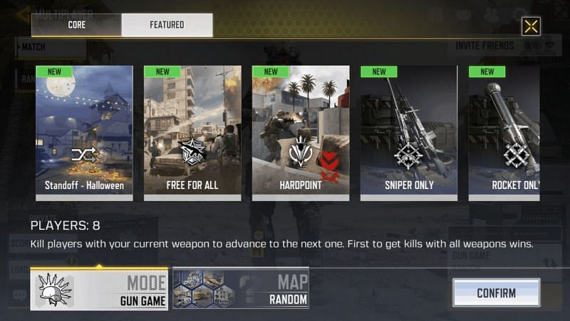 Some of the game modes in COD Mobile (Image credits: Android Headlines)