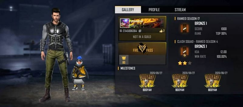Mortal's Free Fire ID number