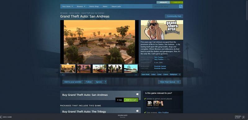 GTA San Andreas on Steam