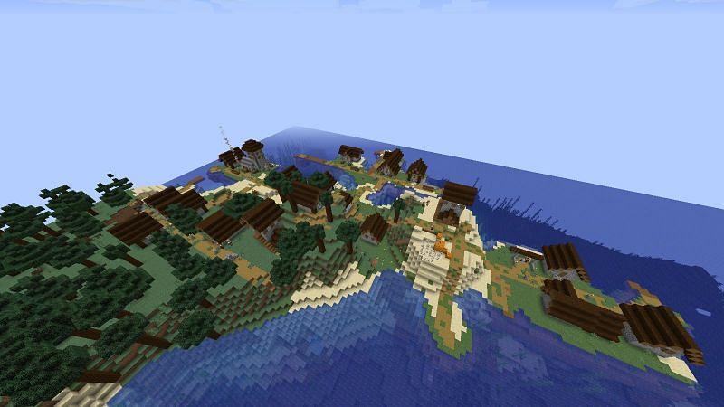 Taiga Peninsula (Image credits: Minecraft-seeds.com)
