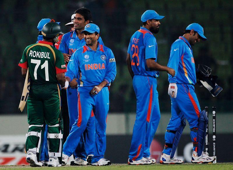 Sachin Tendulkar and Yusuf Pathan were members of the 2011 ICC World Cup winning squad.