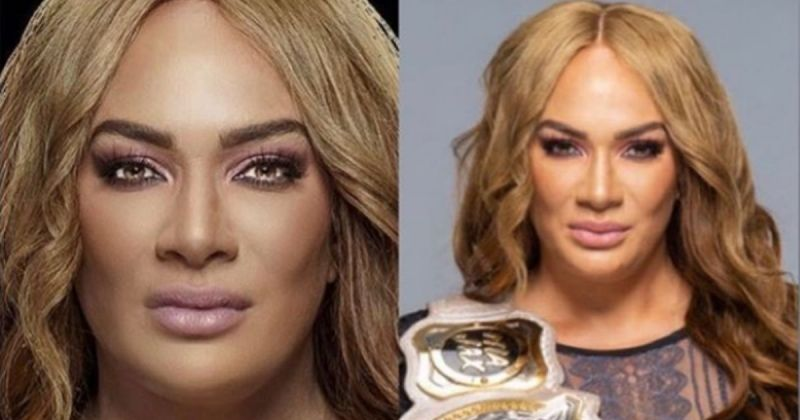 Nia Jax is not happy about WWE using Facetuned photos.