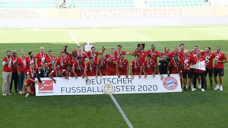 Bayern Munich won their eighth consecutive Bundesliga title last season.