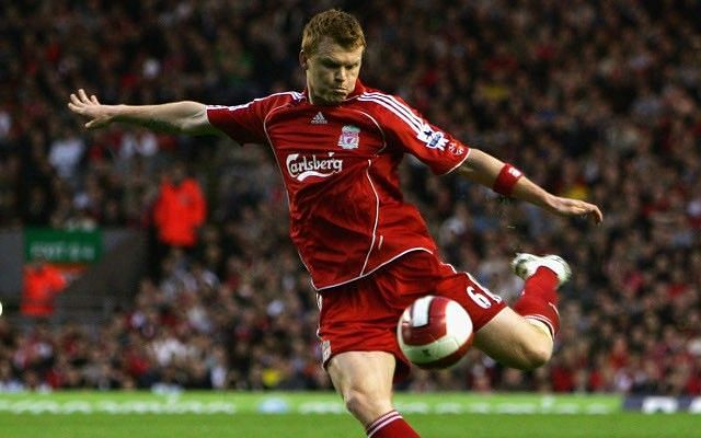 John Arne Riise while playing for Liverpool
