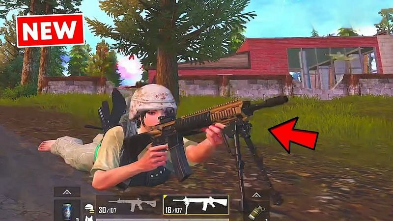 PUBG Mobile MK12 map location, damage(Image credits: 2sxope YT)