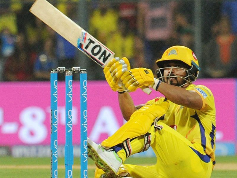 Kedhar Jadhav struggled for momentum in an important part of the chase