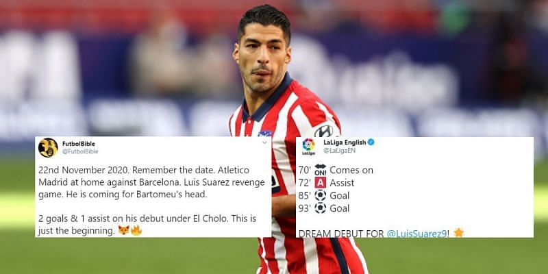 Luis Suarez announced himself in some style for Atletico Madrid