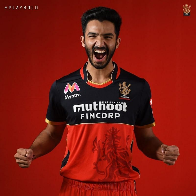 Devdutt Padikkal in the new RCB kit. Image Credits: Royal Challengers Bangalore