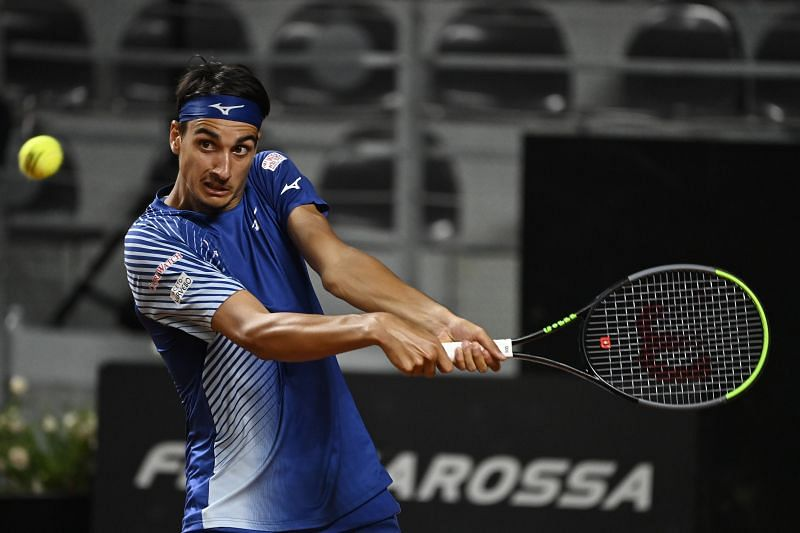 Lorenzo Sonego reached the second round of the Italian Open in Rome last week.