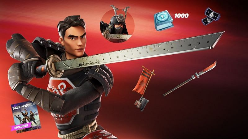 The Samurai Scrapper pack is coming to Fortnite with the newest 14.10 update (Image credits: iFireMonkey/Twitter)
