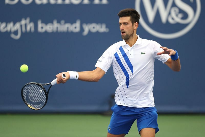 Novak Djokovic at the Western & Southern Open in New York