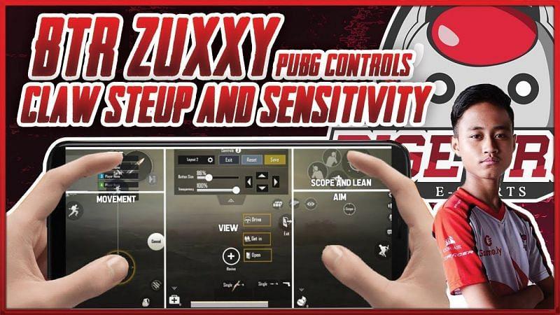 BTR Zuxxy's controls setup and sensitivity settings (Image Credits: Alier Gaming YT)
