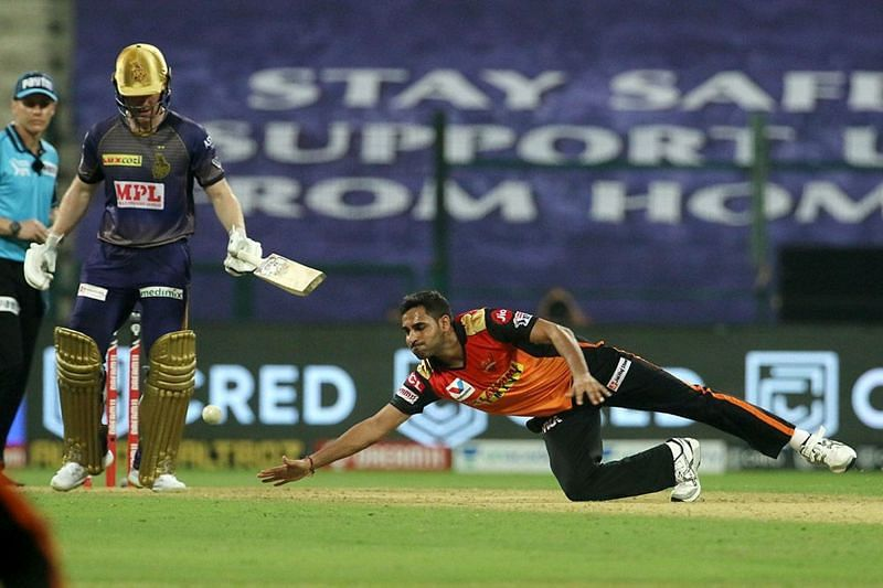 To have a chance in the game, Bhuvneshwar Kumar had to trouble the batsmen early on.