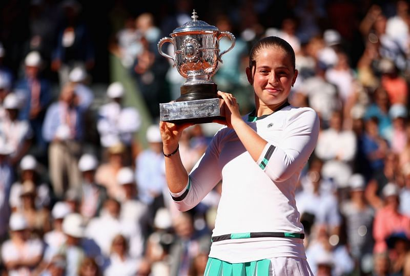 Jelena Ostapenko at the 2017 French Open