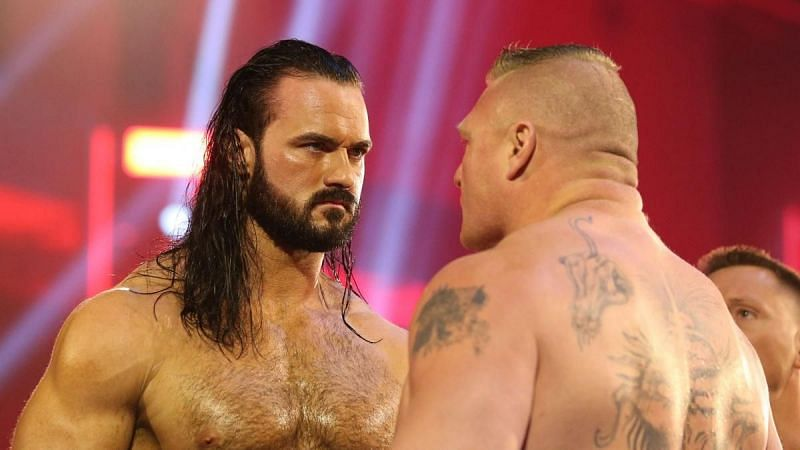 Drew McIntyre and Brock Lesnar