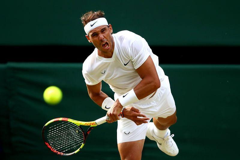 Rafael Nadal at Wimbledon 2019