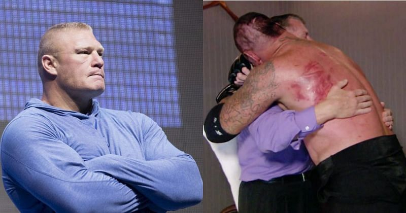Brock Lesnar, Vince McMahon, and The Undertaker.