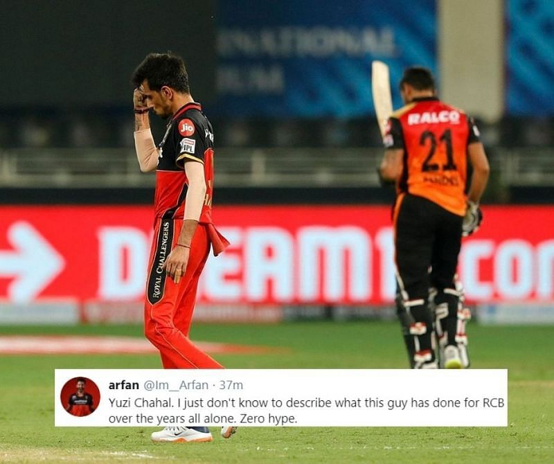 Yuzvendra Chahal was the star of the show for RCB against SRH