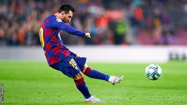 Lionel Messi scored his 50th career hat-trick against Real Valladolid in a La Liga game. (Pic courtesy Getty Images)