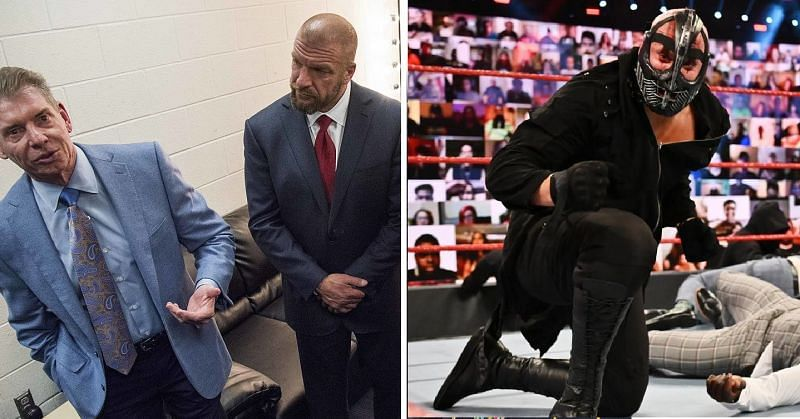 Vince McMahon, Triple H, and T-BAR
