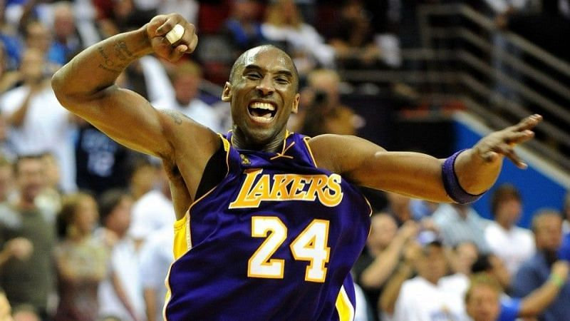 Kobe after winning the 2009 NBA Finals for the LA Lakers [Credits: Entertainment Tonight]