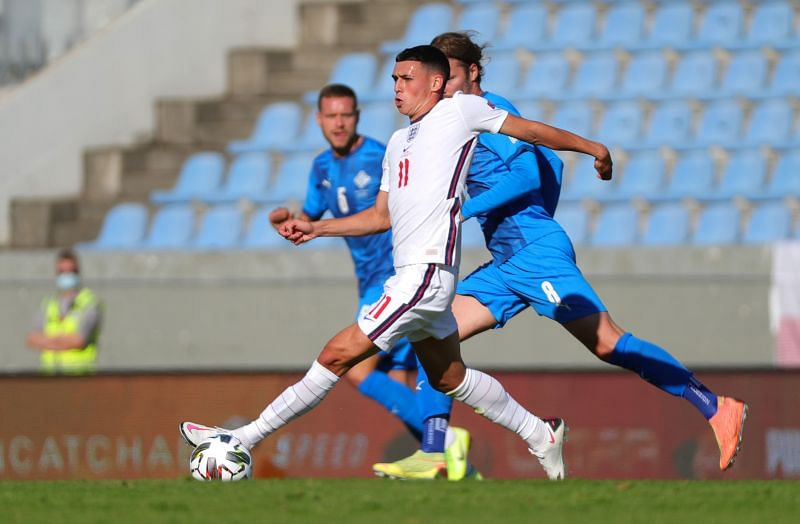 Phil Foden struggled to make an impact on his full England debut.