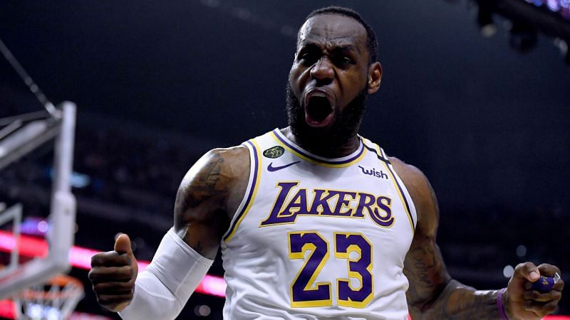 LeBron James Los Angeles Lakers v Los Angeles Clippers NBA regular season 03082020