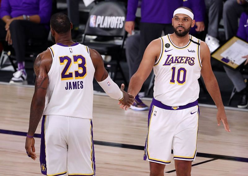 LeBron James and Jared Dudley