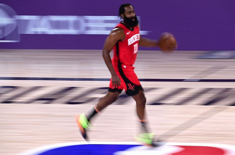 James Harden will not be pleased with his three-pointer rating.