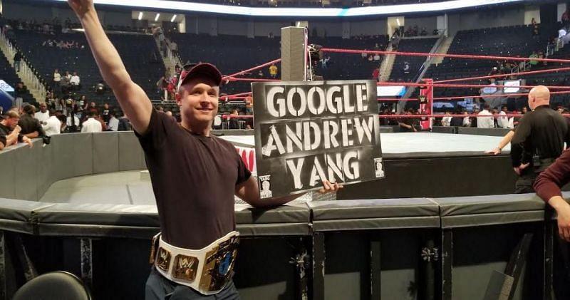 A member of the Yang Gang at a WWE show
