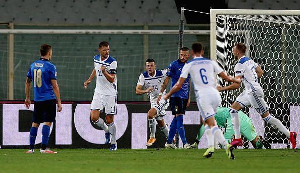 Bosnia and Herzegovina captain Dzeko scored in their last game