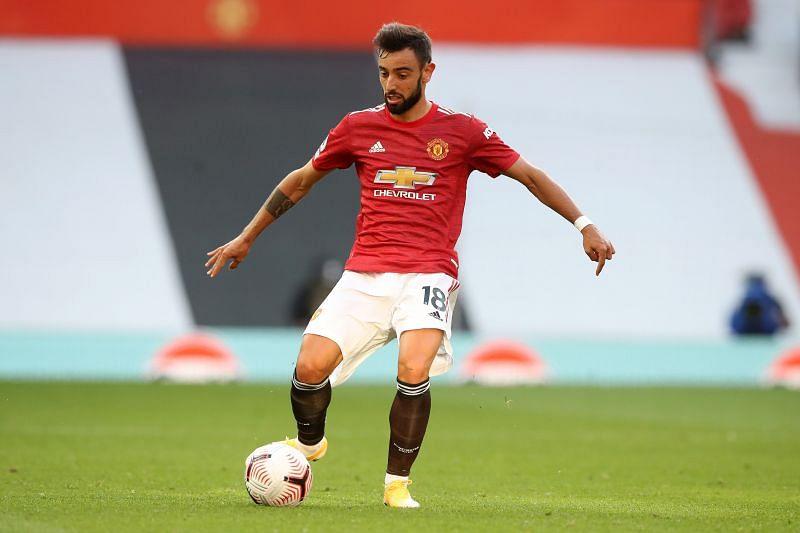 Bruno Fernandes in action for Manchester United