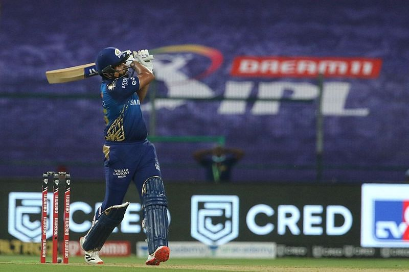 Rohit Sharma played an array of cuts and pulls against KKR [PC: iplt20.com]
