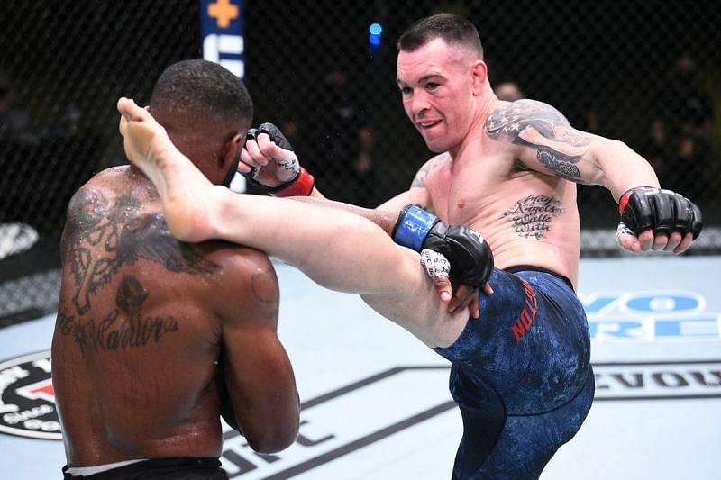 Colby Covington stopped Tyron Woodley in last night