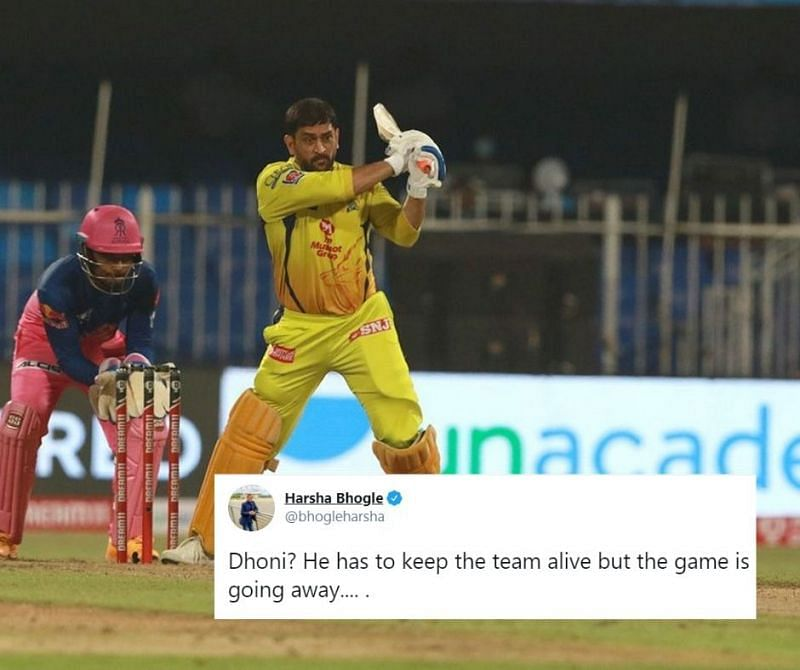 MS Dhoni was majorly criticised on Twitter for his performance against RR in IPL 2020