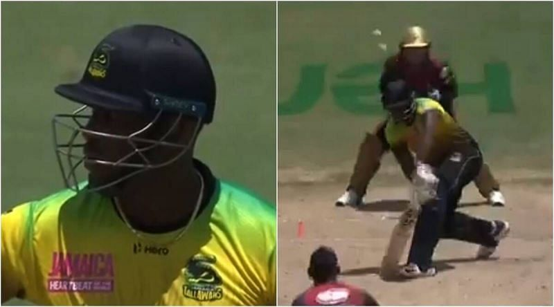 Andre Russell was left fuming after being at the receiving end of a poor umpiring decision
