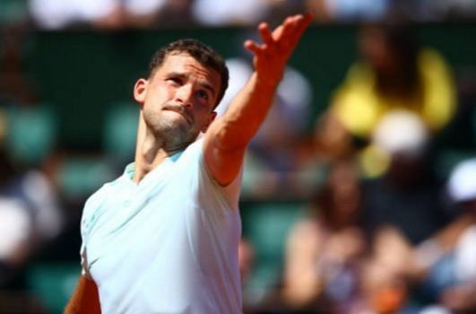 Grigor Dimitrov delivered a confident serving performance in his opening match.