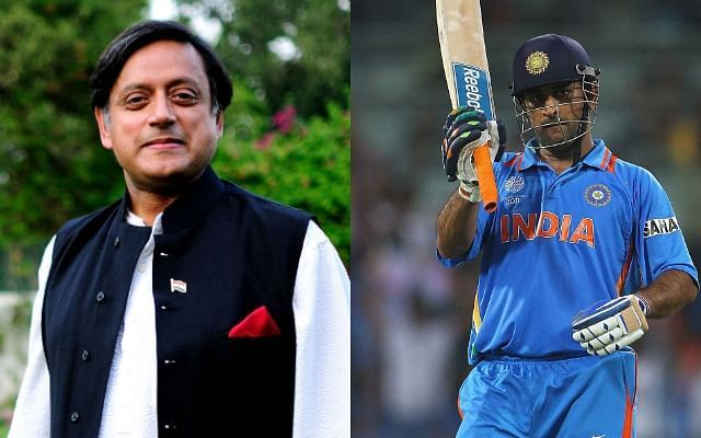 Shashi Tharoor said MS Dhoni is the best captain India has produced. Image Credits: CricTracker