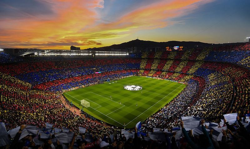 Barcelona have the largest football stadium in Europe.