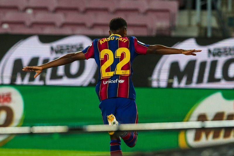 Ansu Fati scored twice against Villarreal