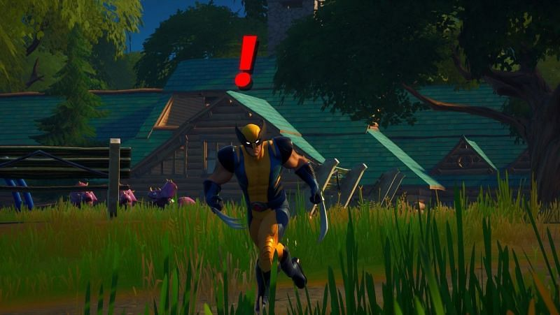 Wolverine roams around Weeping Woods in Fortnite. (Image Credit: Rijit Banerjee/Sportskeeda)