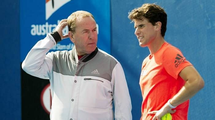 Dominic Thiem with former coach Gunter Bresnik