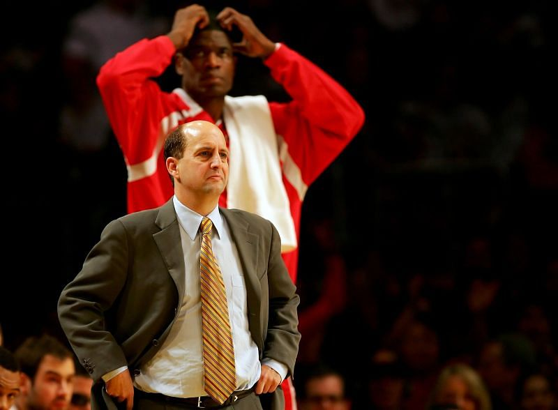 Jeff Van Gundy during his days coaching the Houston Rockets