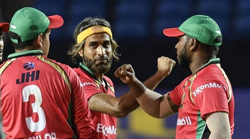 Imran Tahir (C) was scintillating in the previous CPL game