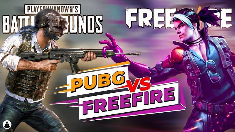 PUBG Mobile vs Free Fire (Image Credits: GamingMonk)