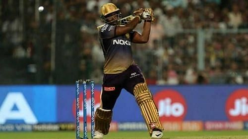 Andre Russell in action for KKR during IPL 2019
