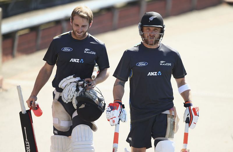 A New Zealand nets session.
