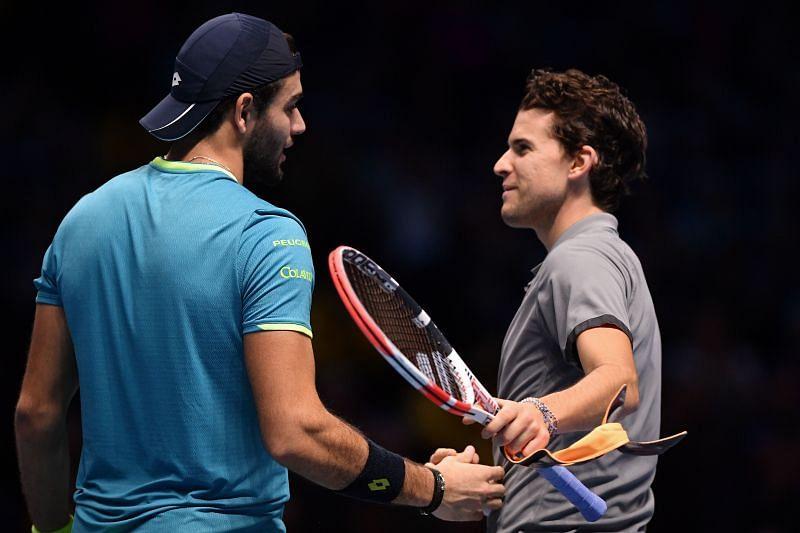 Dominic Thiem lost to Matteo Berrettini at the ATP Finals last year