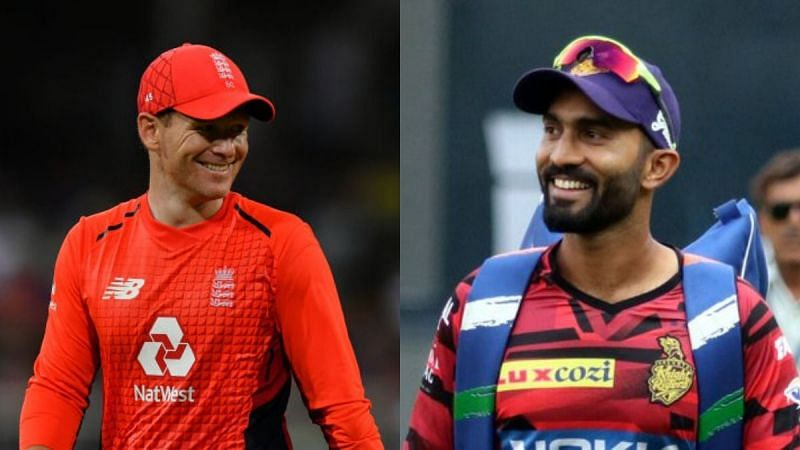Sunil Gavaskar believes that Eoin Morgan can replace Dinesh Karthik as captain if the latter does not lead the side well in IPL 2020