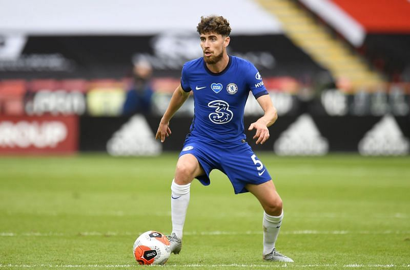 Jorginho of Chelsea runs with the ball during the Premier League